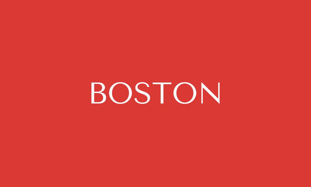 Red box that says Boston